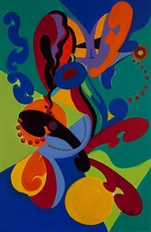 "Jazz Movement Acrylic on Canvas 36"" x 24"""