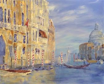 """Sunny Venice Acrylic on Canvas 24"""" x 30"""""""