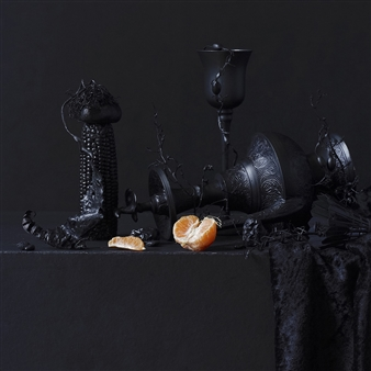Still Life in Black with Orange / second variation