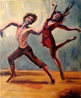 "Dans l'air Oil on Canvas 27.5"" x 19.5"""
