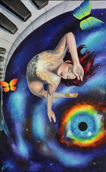 "Surrender Acrylic & Oil on Canvas 50"" x 31"""
