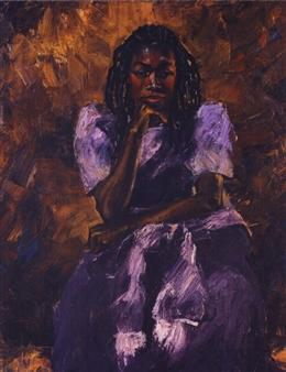 "Evelyn Oil on Canvas 30"" x 36"""