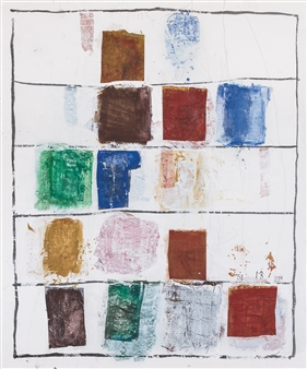 "Bosco Biati Gouache on Paper 47.5"" x 39.5"""