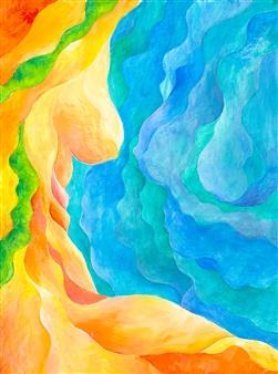 """Goddess Cove Acrylic on Canvas 24"""" x 18"""""""