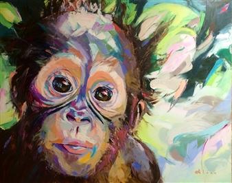"Buddy Oil on Canvas 48"" x 60"""