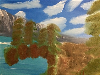 "Autumn lake Oil on Canvas 18"" x 24"""