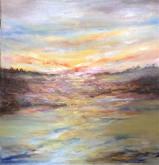 """Momentum In Stillness Oil on Canvas 36"""" x 36"""" <span style='color:red;'>Sold</span>"""
