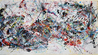 "Alien Acrylic on Canvas 40.5"" x 69.5"""