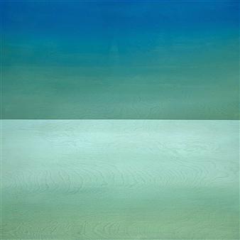 """Cerulean Sky  (Viridian Sky) Acrylic on Wood Panel 24"""" x 24"""""""