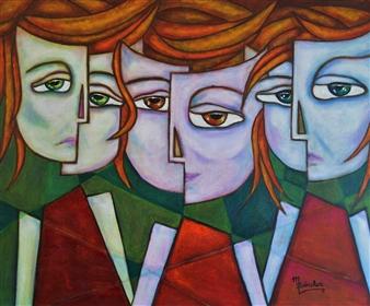 """Triada Oil on Canvas 19.5"""" x 23.5"""""""
