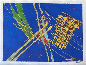 "Stilt Walkers Acrylic on Paper 23"" x 30"""