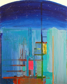 """City of Glass 30 –  (Celestial/Grand Central) Oil on Canvas 39.5"""" x 31.5"""""""