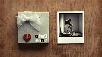 "Love Gifts Digital Assemblage on Fine Art Paper 20"" x 20"""