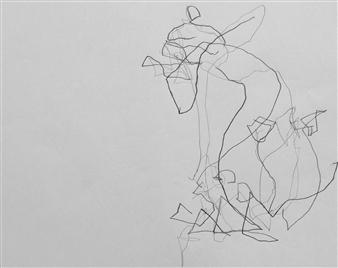 "VvA-L Pencil on Paper 12"" x 16.5"""