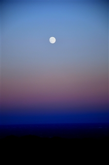 """The Moon the Sky Photograph on Hahnemühle Paper 23.5"""" x 19.5"""""""