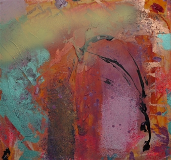 """Anns & Oli Oil & Acrylic on Canvas 24"""" x 24"""""""