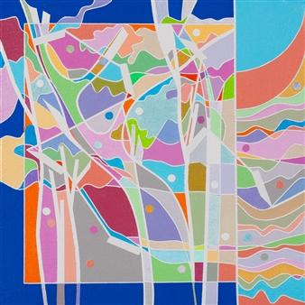 "Color Logic III Acrylic on Canvas 10"" x 10"""