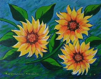 """Be The Sunflower Acrylic on Canvas 12"""" x 19.5"""""""