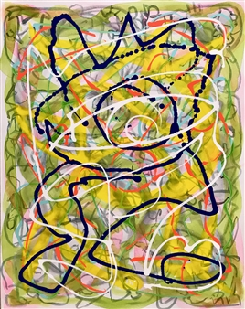 "Untitled 6 - Big Green Series Acrylic on Canvas 30"" x 24"""