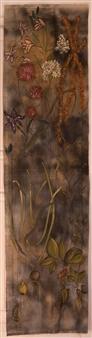 "Naturaleza Dos. Naturaleza Muerta Acrylic & Mixed Media on Linen Canvas 90.5"" x 23.5"""