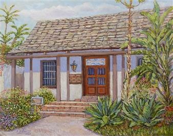 """Casa de Miguel Pedrorena Oil on Canvas Panel 14"""" x 18"""""""