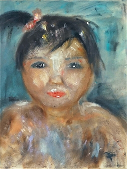 """Young Sister Oil on Canvas 24"""" x 18"""""""