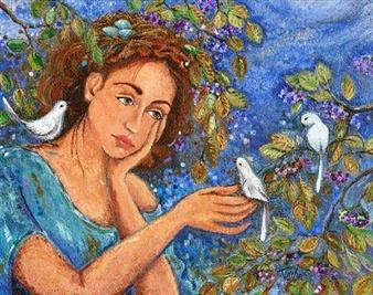 """Robin's Nest Acrylic on Canvas 24"""" x 36"""""""