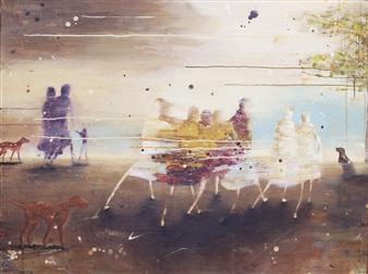 """Spring Acrylic on Canvas 39.5"""" x 47"""""""