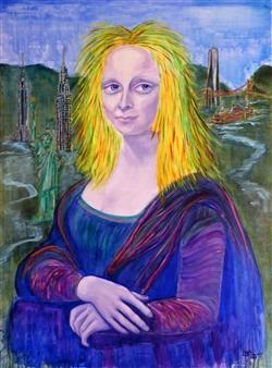 "Mona Acrylic on Canvas 41"" x 31"""