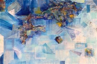 "Fortitude Acrylic & Mixed Media on Canvas 24"" x 36"""