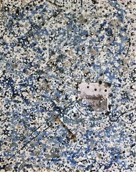"Birchmont Blue Acrylic & Mixed Media on Canvas 22"" x 16"""
