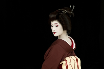 "Geisha in Kyoto Archival Pigment Print 30"" x 40"""