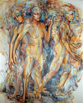 "Untitled Acrylic on Linen 40"" x 33"""