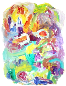 "Fantasy Space Acrylic on Canvas 30"" x 24"""