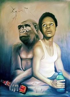 """A Breach in Social Barricades Oil on Canvas 48"""" x 36"""""""