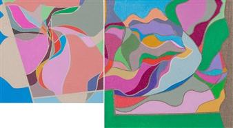 """Étude  (diptych) Acrylic on Canvas 10"""" x 18"""""""
