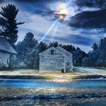"""Lonely House at Midnight Archival Pigment Print on Aluminum 36"""" x 36"""""""