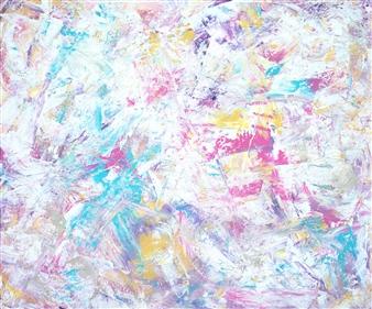 "Dreamcatcher Acrylic on Canvas 39.5"" x 47"""