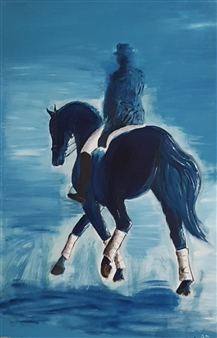 Rider in Blue
