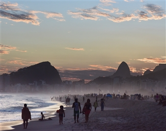 Days End Copacabana Beach