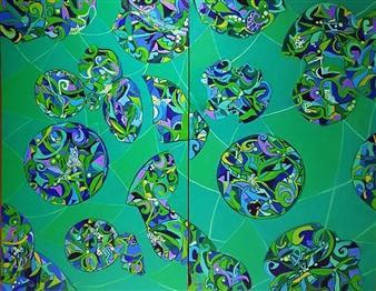 "Mandala #3 Oil on Canvas 46"" x 57"""
