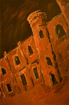 """Rhodes Palace 2 Oil on Canvas 27.5"""" x 18"""""""