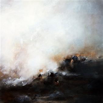 "Untitled II - Storm Studies Acrylic & Oil on Wood 24"" x 24"" x 1.5"""