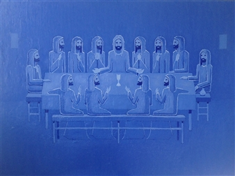 """Last Supper Oil on Canvas 54"""" x 72"""""""