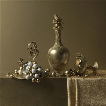 Still Life in Gold with Grapes / second variation