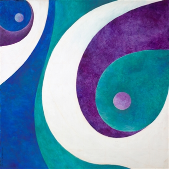 "Turkish Motif Acrylic on Canvas 24"" x 24"""