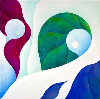"""Aegean Coast Acrylic on Canvas 30"""" x 30"""""""