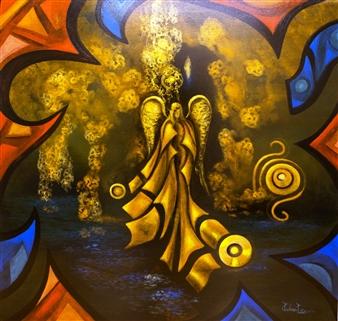 """Blissfully Acrylic on Canvas 39.5"""" x 39.5"""""""