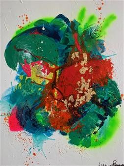 "Joy of Nature 2 Acrylic on Linen 47"" x 39.5"""