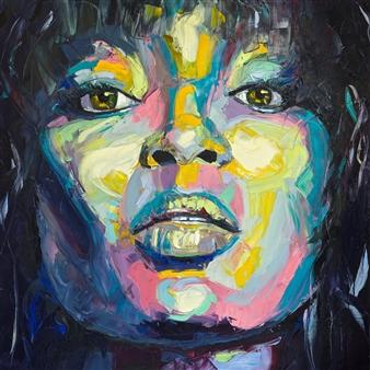 """Naomi Oil on Canvas 48"""" x 48"""""""